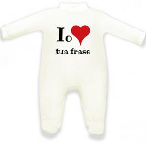 tutina neonato bianca da personalizzare