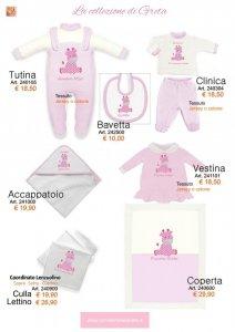abbigliamento neonata ricamo giraffa da personalizzare