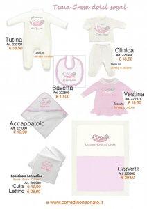 abbigliamento neonata dolci sogni