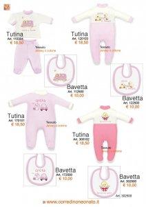 tutine e bavette per neonata