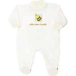 tutina neonato bianca con frase da personalizzare