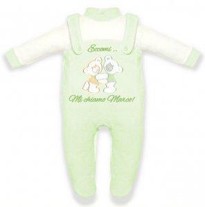 tutina-neonato-orsetto-verde-personalizzabile
