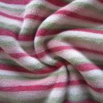 tessuto in ciniglia a righe