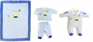 La coperta ciniglia è coordinabile per colore e ricamo ad altri articoli come tutina e clinica