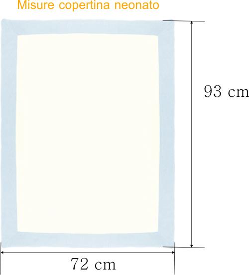 Amato Copertina Neonato per carrozzina Misure e Info - Corredino Neonato  KR49