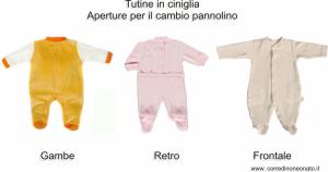 tutine ciniglia neonato le apertura per il cambio pannolino