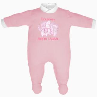 tutina neonata rosa puro cotone