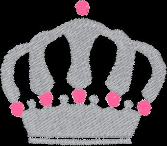 Corona argento punti rosa