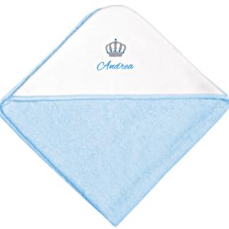 accappatoio neonato azzurro