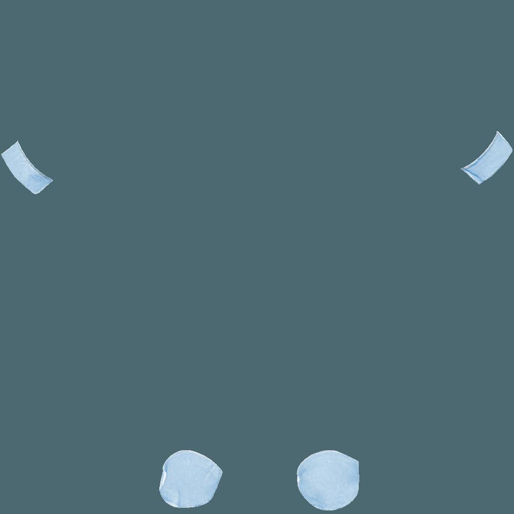 Polsini e piedini azzurri