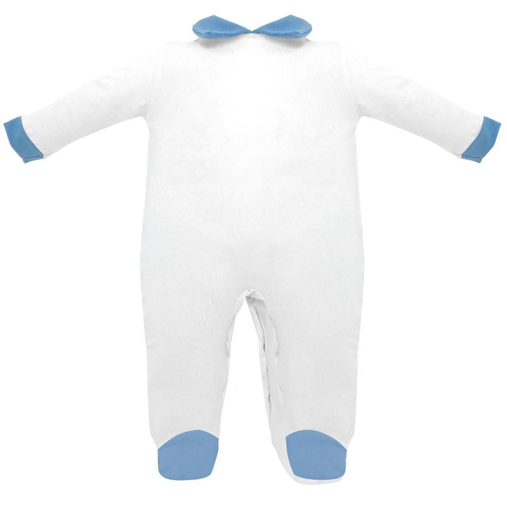 tutina jersey cotone 100% colore bianca blu - Estivo