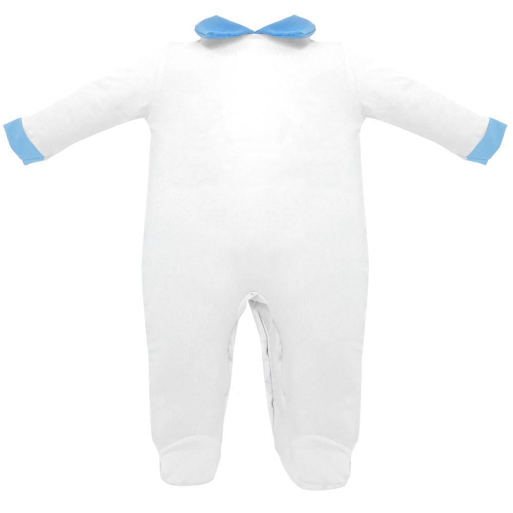 tutina jersey cotone 100% colore bianco azzurra - Estivo
