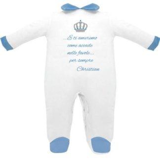 tutina neonato preincipe con dedica