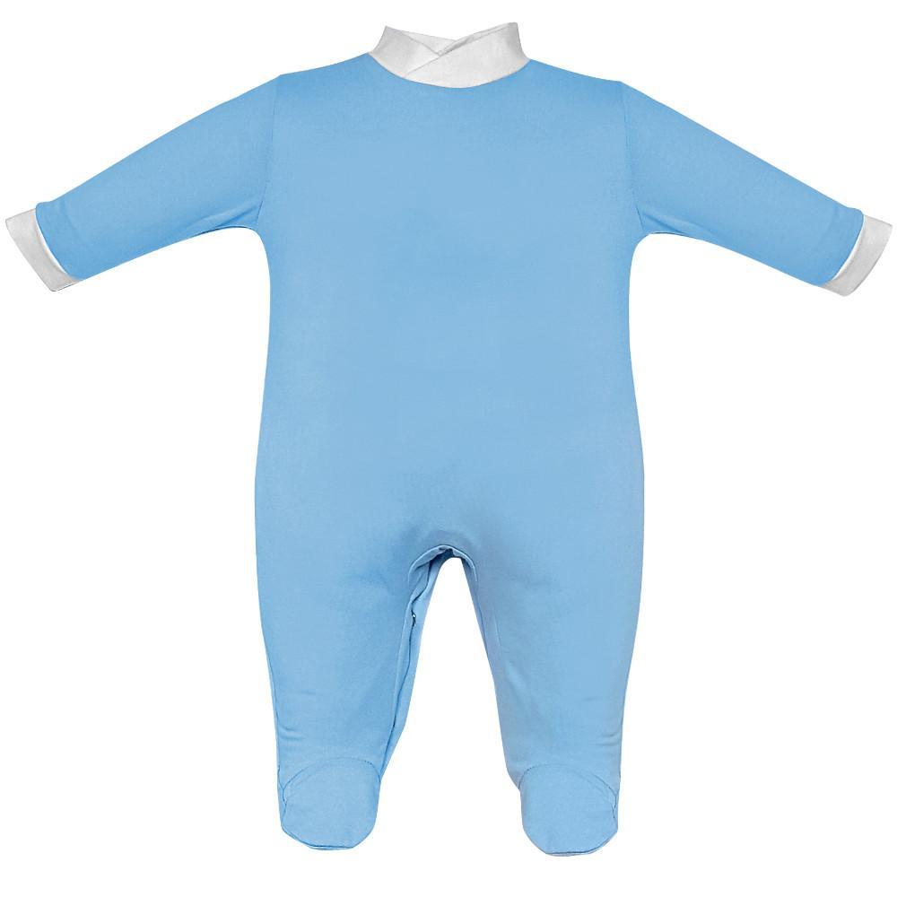 tutina jersey cotone 100% colore azzurro bianco - Estivo