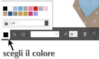 scegli il colore del ricamo sulle scarpette per neonato
