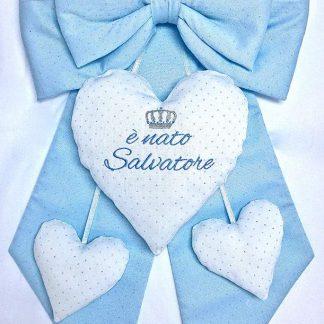 fiocco nascita bimbo Salvatore