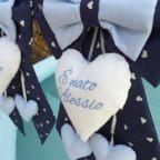 fiocco blu con cuore bianco alessio