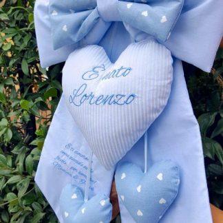 fiocco lorenzo azzurro con dedica