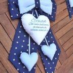 fiocco nascita blu a cuori pendenti Ethan