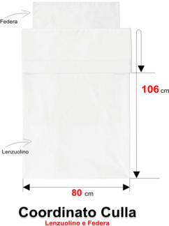 misure lenzuolo carrozzina culla