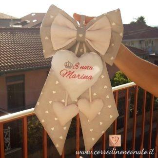 Marina Fiocco nascita Grigio e bianco