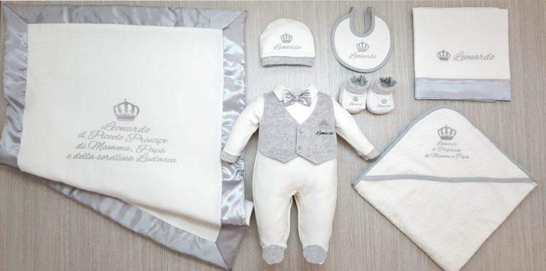 corredino neonato bianco e grigio