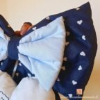 coccarda nascita maschietto alessio colore azzurro e blu