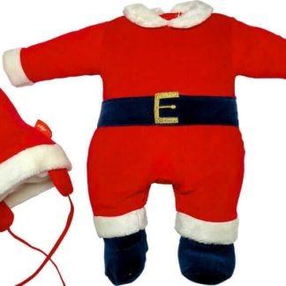 tutina neonato rossa natale con cappello