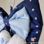 Fiocchetto azzurro del fiocco nascita per Raffaele.