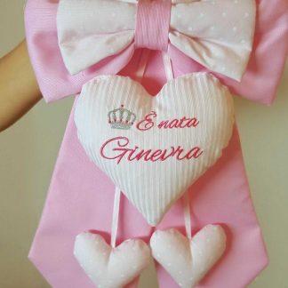 fiocco nascita bimba Ginevra rosa