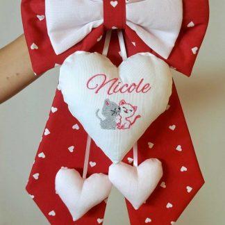 fiocco nascita bimba Nicole colore rosso