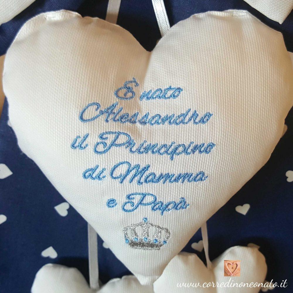 Eccezionale Fiocco nascita bimbo Alessandro made in Italy, il più bel fiocco  AF84