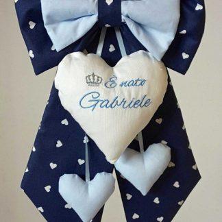coccarda nascita bimbo gabriele blu