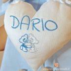 coccarda nascita Dario azzurro tortora