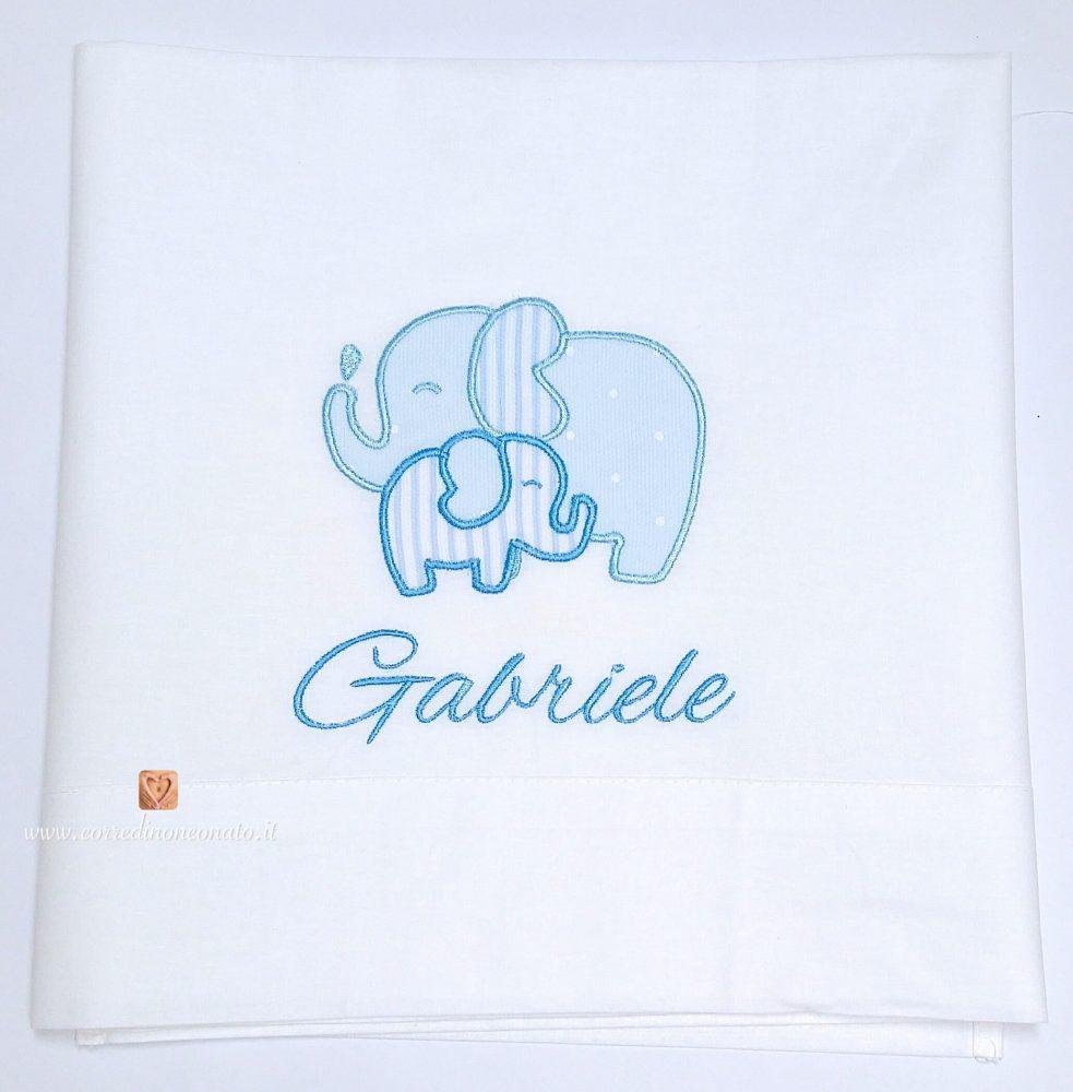 Famoso Lenzuolo misure carrozzina elefantini Gabriele TJ45