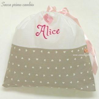 sacca nascita personalizzata Alice