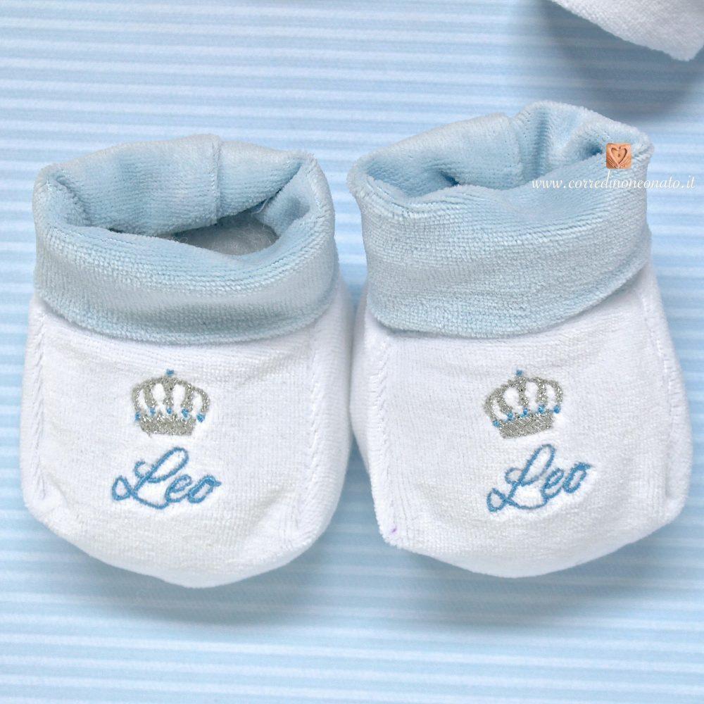 competitive price 45746 54d34 Babbucce neonato ricamo Leo