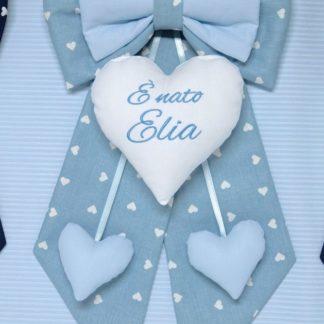 fiocco azzurro bimbo Elia