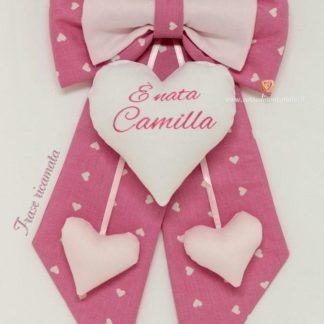 fiocco nascita rosa personalizzato