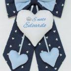fiocco nascita blue e azzurro bimbo