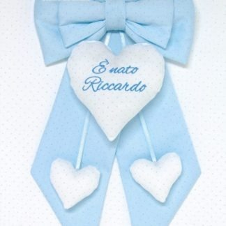fiocco nascita bimbo azzurro glitter