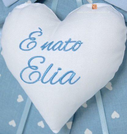 cuore centrale fiocco azzurro Elia
