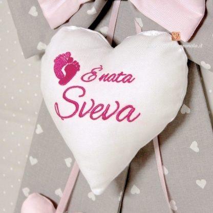 cuore centrale ricamato Sveva
