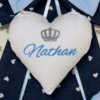 cuore centrale fiocco blu