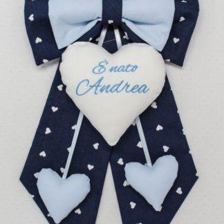 Fiocco nascita blu per Andrea