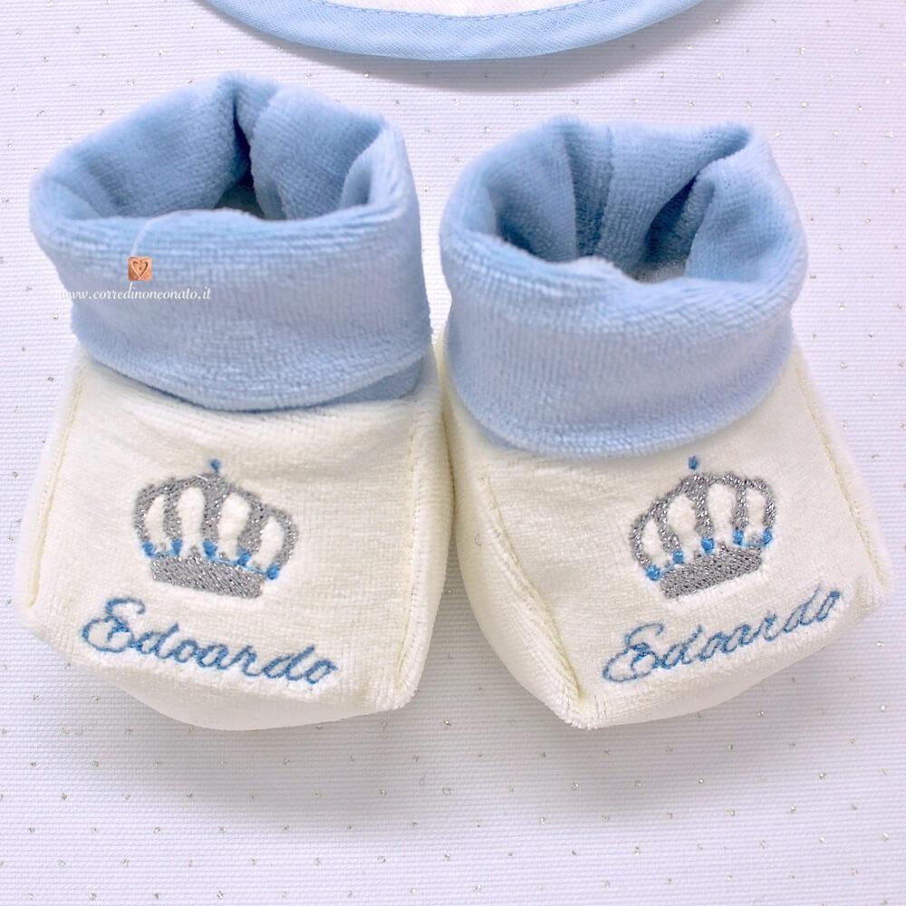 finest selection 596a6 5a416 Babbucce neonato per Edoardo