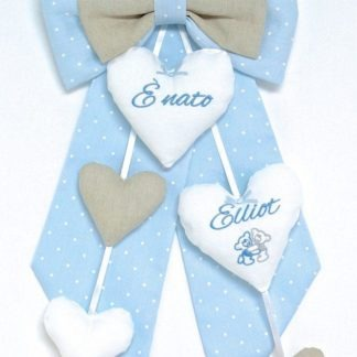 Fiocco nascita azzurro per Elliot