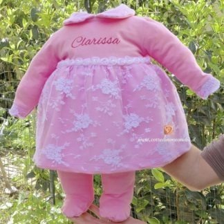 Coprifasce elegante con merletto per Clarissa