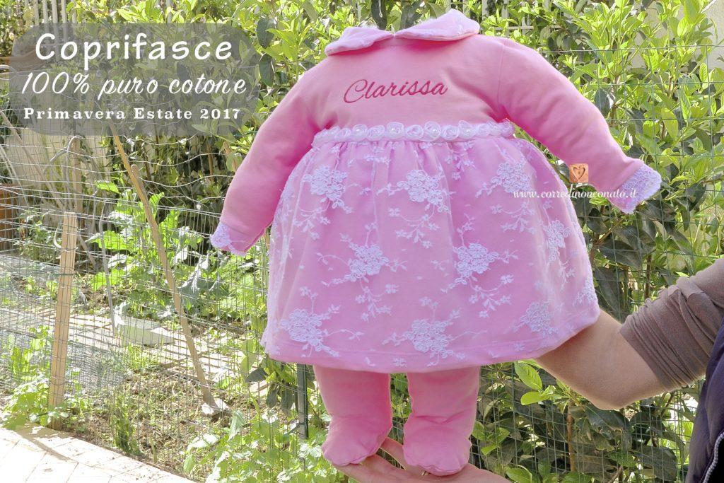 Coprifasce neonata cotone primavera estate 2017