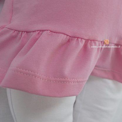 Balza di cotone del vestitino con ghetta per neonata